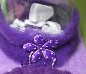 schöne neue Dekoideen mit lila Woll-Vlies
